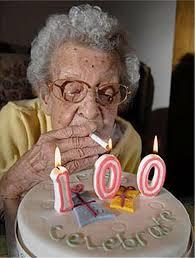 German Grandma is celebrating